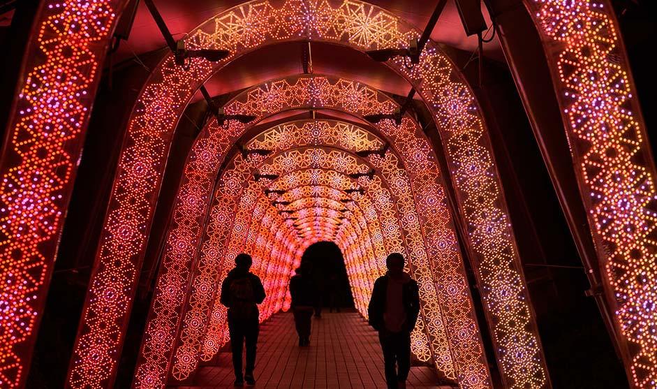 iluminación navideña del dome de tokio